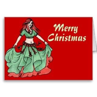 Merry Christmas Belly Dancer Greeting Card