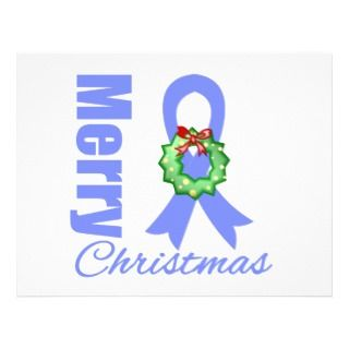 Esophageal Cancer Awareness Merry Christmas Ribbon Personalized Flyer