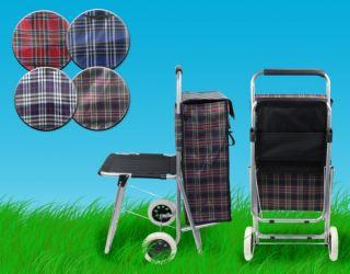 Einkaufstrolley mit Sitz Einkaufsroller Einkaufswagen Shopper Trolley