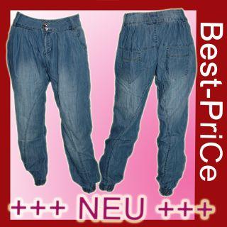 Damen Chino Pump Jeans HoSe *bLue* PLuderHose Pumphose Gr.36 W28 (S) #