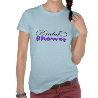 Hearts Purple w/ Zebra Bridal Shower Party T Shirts