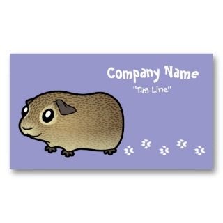 Cartoon Guinea Pig (agouti) business cards by SugarVsSpice