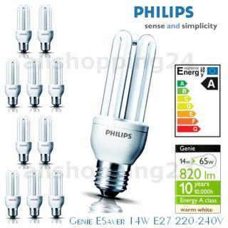 Philips GENIE 14W ENERGIESPARLAMPEN Warmweiß E27 Birnen