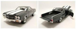 Chevrolet El Camino 1970 schwarz, Modellauto 118 / Welly