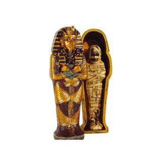 Sarkophag mit Mumie Tut Ench Amun Ägyptische Figuren Deko: