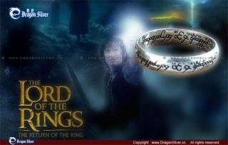 Solid sterling silver.925 One Ring of power Lord of the Rings LOTR