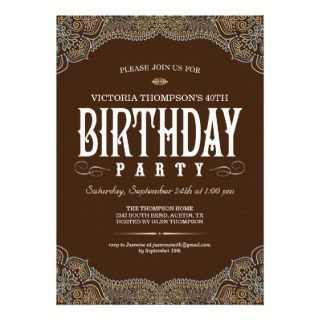 Cowgirl 21st Birthday Invitations