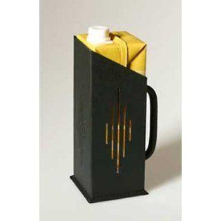 Black Design Tetra Pak Halter aus Metall 8, 5 x 8, 5 x 21 cm: