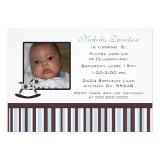 Spotted Rocking Horse: Party Invitations