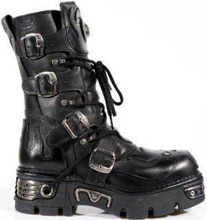 New Rock Boots @ Metal Schuhe @ Stiefel Rock @ Punk Goth @ Schwarz