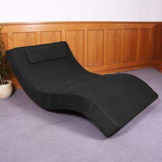 Relaxliege Recamiere Chaiselongue Livorno XXL Mikrofaser schwarz weiß