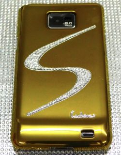 SAMSUNG GALAXY S2 i9100 gold S STRASS BLING spiegel chrom Cover hard