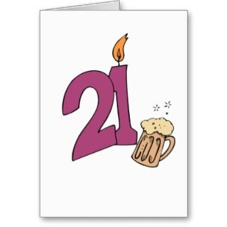 21 Year Old Happy Birthday Twenty First Greeting Card