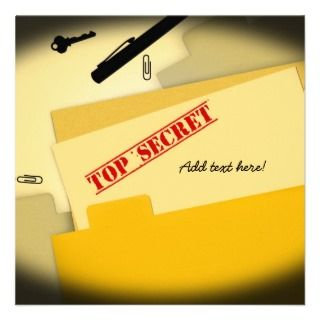 Top Secret   Surprise Party Invitation