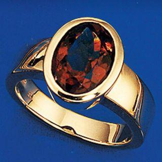 Damenring Goldring Ring, Rauchquarz & 585 Gold Gelbgold, Fingerschmuck