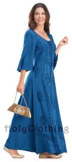 Boho Kleid bestickt Korsett Brustteil Bustier Peasant