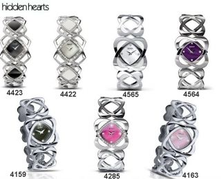 Seksy Hidden Hearts Sekonda Watch Pink Purple White Black With Crystal