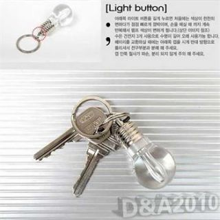 Creative LED Colorful Flash Lights Mini Bulb Torch Key Chain Keyring