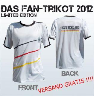 Deutschland EM Fan T shirt 2012 Fantrikot Fussball EM
