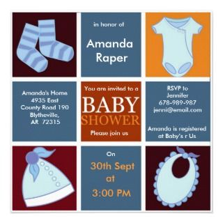 Boxed Boy Baby Shower invite