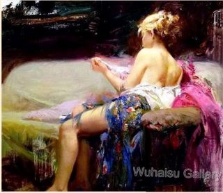 Wuhaisu Artist Gallery Portait Oil Painting Girls beach walk