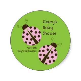 Pink Ladybug Baby Shower or Birthday Invitation
