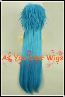 Dramatical Murder DMMd AOBA Long Blue Fancy Anime Cosplay Party Hair