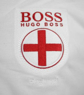 BOSS GREEN Hugo Boss Herren Polohemd Shirt Paddy Flag Weiss   Größe