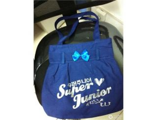 Super Junior canvas bag blue color With E.L.F