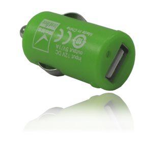 USB Adapter Stecker Ladegerät KFZ Netzteil   GRÜN NEU