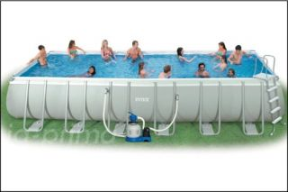ULTRA FRAME SWIMMING POOL 975x488x132 SCHWIMMBAD KOMPLETTSET 54986