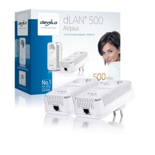 Devolo dLAN 500 AV plus 2 Adapter Starter Kit 500MBit