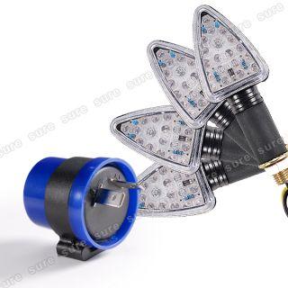 18 LED Motorrad Blinker SCHWARZ Quad Roller mit 12v Led Blinker