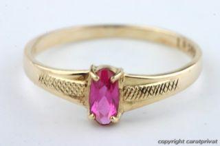 Rubinring Gold Ring mit Rubinen Damenring Rubin