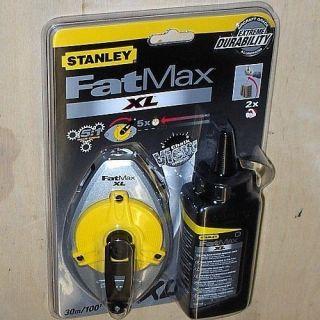 Stanley 0 47 488 FatMax Schlagschnur 30 m + 115 g Kreide schwarz