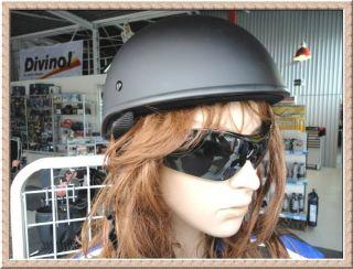 Custom Helm schwarz matt Karo Braincap Braincover Eierschale Gr.XL