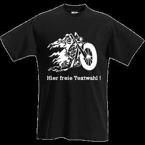 CHOPPER DEAD T Shirt, Biker Shirt schwarz S XXL 10 515