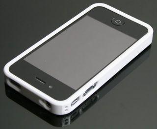iPhone 4 4G Hülle Hart Cover Tasche Case Schale Weiß