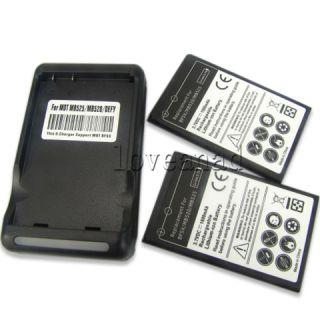 2x 1800mAh Battery + Charger Motorola Defy MB525 ME525 MB520,Bravo