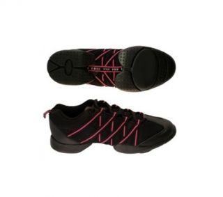 Bloch 524 Pink Schwarz Criss Cross Dance Sneaker Tanz Schuhe +NEU+