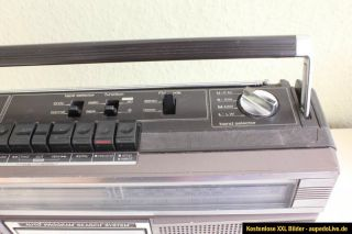 Sharp GF 6060 Ghettoblaster Boombox Radio Kassettenplayer old school