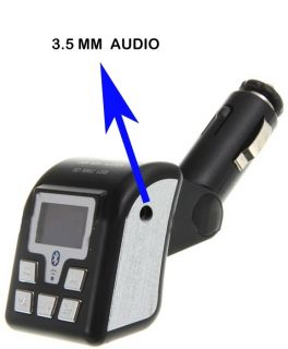BRAND NEW BLUETOOTH WIRELESS FM TRANSMITTER WITH HANDS FREE CAR KIT