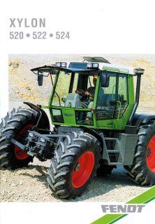 Fend Xylon 520 522 524 Schlepper rakor racor Prospek Brochure