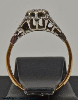 Diamantring Paltinring Antikschmuck 18Kt. Schmuck Ringe Gold Nr.542