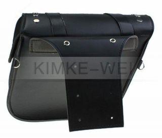Satteltasche für Harley Motorrad Werkzeug und Zubehör Schwarz