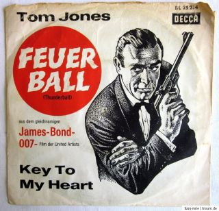 Single (s)   FEUERBALL (Thunderball) James Bond 007   Tom Jones
