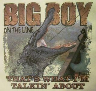 HUNTING BIG BOY ON THE LINE THATS WHAT IM  REBEL SHIRT #539