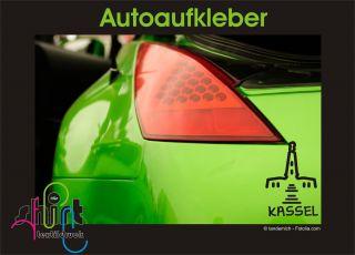 555   Kassel Herkules Autoaufkleber Spruch Sticker Aufkleber Scheibe