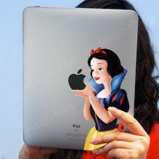 Snow White Vinyl Sticker Decal Gadget Tablet Skin for Mac Apple iPad 1
