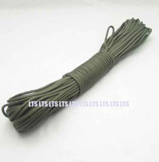 100 ft Nylon Strong Paracord 550 7 Strand Dark Olive Green S4